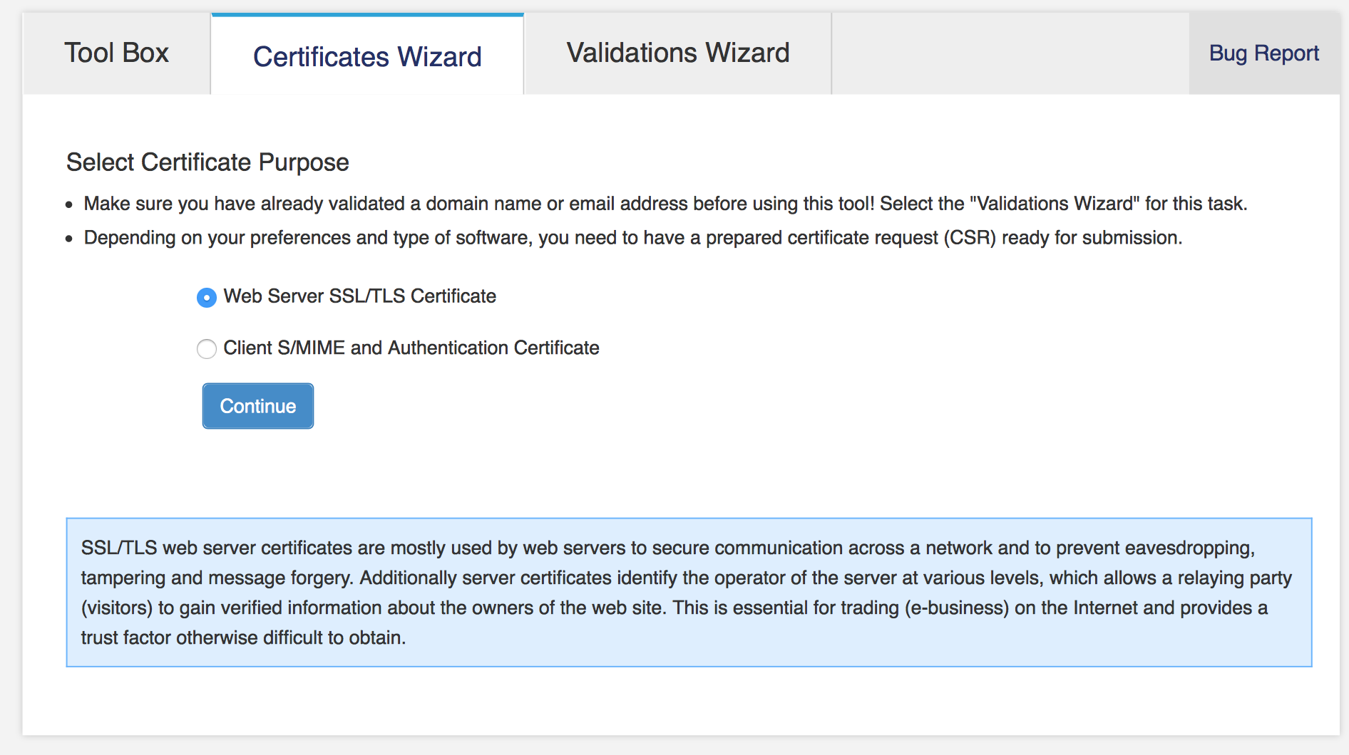 How to issue or renew an ssl certificate at startssl francesco pira startssl certificate wizard xflitez Choice Image
