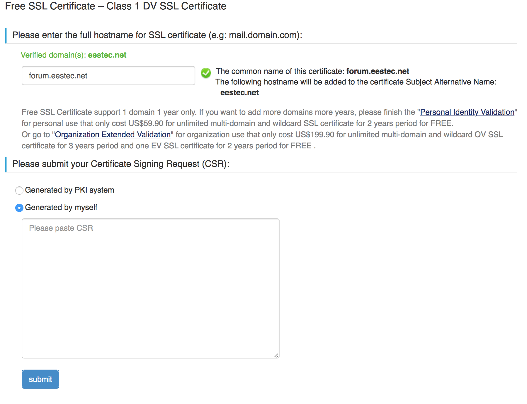How To Issue Or Renew An Ssl Certificate At Startssl Francesco Pira